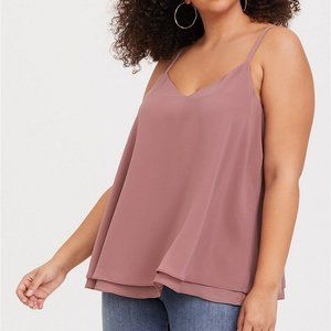 SOPHIE - WALNUT DOUBLE LAYER GEORGETTE SWING CAMI